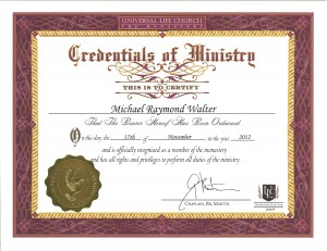 Certification for Marrying People