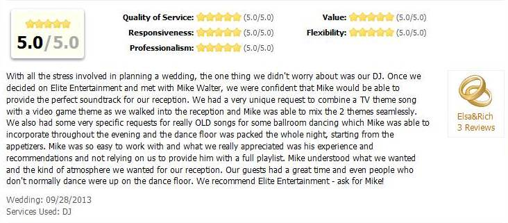 Rich and Elsas Wedding Wire Review