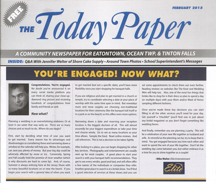 Today Paper - You're Engaged 2015 - Copy