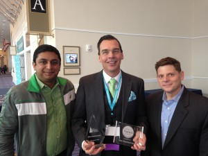 With Sonny Ganguly and Matt Kaufman of WeddingWire